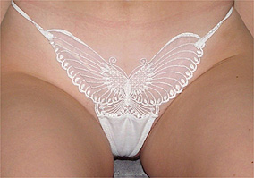 Alluring White Butterfly Panties
